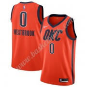 Oklahoma City Thunder Basket Tröja 2019-20 Russell Westbrook 0# Orange Earned Edition Swingman..