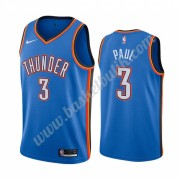 Oklahoma City Thunder Basket Tröja 2019-20 Chris Paul 3# Blå Icon City Edition Swingman..
