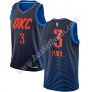 Oklahoma City Thunder Basket Tröja 2019-20 Chris Paul 3# Blå Statement Edition Swingman..