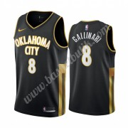 Oklahoma City Thunder Basket Tröja 2019-20 Danilo Gallinari 8# Svart City Edition Swingman..
