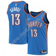 Oklahoma City Thunder Basket Tröja 2019-20 Paul George 13# Blå Icon Edition Swingman..