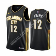 Oklahoma City Thunder Basket Tröja 2019-20 Steven Adams 12# Svart City Edition Swingman..