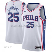 Barn NBA Tröja Philadelphia 76ers 2018 Ben Simmons 25# Association Edition..