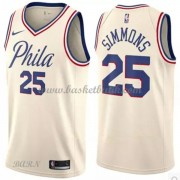 Barn NBA Tröja Philadelphia 76ers 2018 Ben Simmons 25# City Edition..