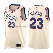 Barn NBA Tröja Philadelphia 76ers 2018 Ersan Ilyasova 23# City Edition..
