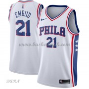 Barn NBA Tröja Philadelphia 76ers 2018 Joel Embiid 21# Association Edition..