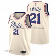 Barn NBA Tröja Philadelphia 76ers 2018 Joel Embiid 21# City Edition..
