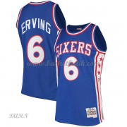 Barn NBA Tröja Philadelphia 76ers 1982-83 Julius Erving 6# Blue Hardwood Classics..