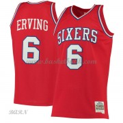 Barn NBA Tröja Philadelphia 76ers 1982-83 Julius Erving 6# Red Hardwood Classics..