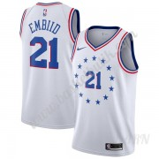 Barn NBA Tröja Philadelphia 76ers 2019-20 Joel Embiid 21# Earned Edition Swingman..
