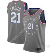 Barn NBA Tröja Philadelphia 76ers 2019-20 Joel Embiid 21# grå City Edition Swingman..