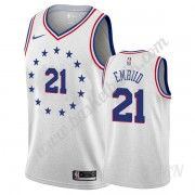 Barn NBA Tröja Philadelphia 76ers 2019-20 Joel Embiid 21# grå Earned Edition Swingman..