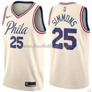 Philadelphia 76ers Basket Tröja 2018 Ben Simmons 25# City Edition..