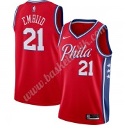 Philadelphia 76ers Basket Tröja 2019-20 Joel Embiid 21# Röd Finished Statement Edition Swingman..