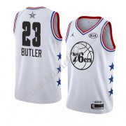 Philadelphia 76ers 2019 Jimmy Butler 23# Vit All Star Game NBA Basketlinne Swingman..