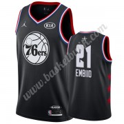 Philadelphia 76ers 2019 Joel Embiid 21# Svart All Star Game NBA Basketlinne Swingman..
