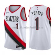 Portland Trail Blazers Basket Tröja 2018 Evan Turner 1# Association Edition..