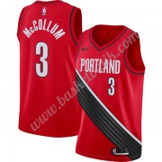 Portland Trail Blazers Basket Tröja 2019-20 C.J. McCollum 3# Röd Finished Statement Edition Swingman..