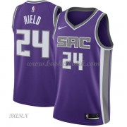 Barn NBA Tröja Sacramento Kings 2018 Buddy Hield 24# Icon Edition..