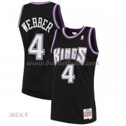 Barn NBA Tröja Sacramento Kings 2000-01 Chris Webber 4# Svart Hardwood Classics..