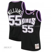 Barn NBA Tröja Sacramento Kings 2000-01 Jason Williams 55# Svart Hardwood Classics..
