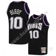 Barn NBA Tröja Sacramento Kings 2001-02 Mike Bibby 10# Svart Hardwood Classics Swingman..