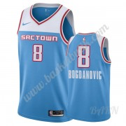 Barn NBA Tröja Sacramento Kings 2019-20 Bogdan Bogdanovic 8# Blå City Edition Swingman..