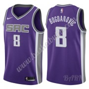 Barn NBA Tröja Sacramento Kings 2019-20 Bogdan Bogdanovic 8# Lila Icon Edition Swingman..