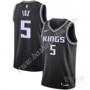 Barn NBA Tröja Sacramento Kings 2019-20 De'Aaron Fox 5# Svart Statement Edition Swingman..