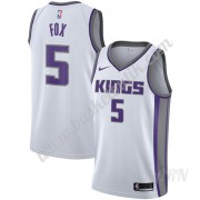 Barn NBA Tröja Sacramento Kings 2019-20 De'Aaron Fox 5# Vit Association Edition Swingman..