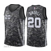 Barn NBA Tröja San Antonio Spurs 2018 Manu Ginobili 20# City Edition..
