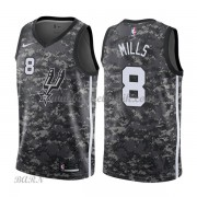 Barn NBA Tröja San Antonio Spurs 2018 Patty Mills 8# City Edition..