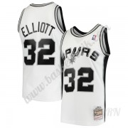Barn NBA Tröja San Antonio Spurs 1998-99 Sean Elliott 32# Vit Hardwood Classics Swingman..