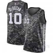 Barn NBA Tröja San Antonio Spurs 2019-20 DeMar DeRozan 10# Svart City Edition Swingman..