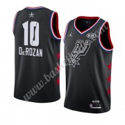 San Antonio Spurs 2019 Demar Derozan 10# Svart All Star Game NBA Basketlinne Swingman..