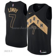 Barn NBA Tröja Toronto Raptors 2018 Kyle Lowry 7# City Edition..