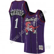 Barn NBA Tröja Toronto Raptors 1998-99 Tracy McGrady 1# Lila Hardwood Classics Swingman..