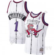 Barn NBA Tröja Toronto Raptors 1998-99 Tracy McGrady 1# Vit Hardwood Classics Swingman..
