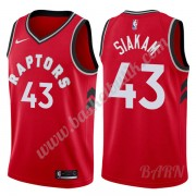Barn NBA Tröja Toronto Raptors 2019-20 Pascal Siakam 43# Röd Icon Edition Swingman..