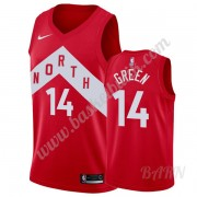 Barn NBA Tröja Toronto Raptors 2019-20 Danny Green 14# Röd Earned Edition Swingman..
