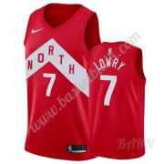 Barn NBA Tröja Toronto Raptors 2019-20 Kyle Lowry 7# Röd Earned Edition Swingman..