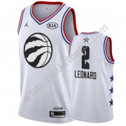 Toronto Raptors 2019 Kawhi Leonard 2# Vit All Star Game NBA Basketlinne Swingman..