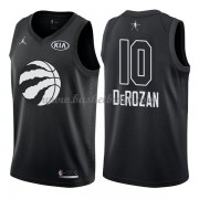 Toronto Raptors DeMar DeRozan 10# Svart 2018 All Star Game NBA Basketlinne..
