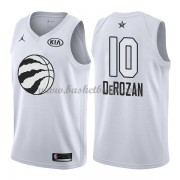 Toronto Raptors DeMar DeRozan 10# Vit 2018 All Star Game NBA Basketlinne..