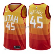 Barn NBA Tröja Utah Jazz 2018 Donovan Mitchell 45# City Edition..