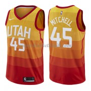 Utah Jazz Basket Tröja 2018 Donovan Mitchell 45# City Edition..