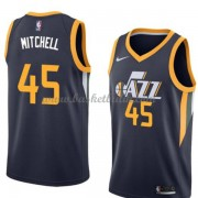 Utah Jazz Basket Tröja 2018 Donovan Mitchell 45# Icon Edition..