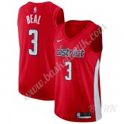 Barn NBA Tröja Washington Wizards 2019-20 Bradley Beal 3# Röd Earned Edition Swingman..