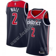 Barn NBA Tröja Washington Wizards 2019-20 John Wall 2# Marinblå Finished Statement Edition Swingman..