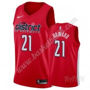 Barn NBA Tröja Washington Wizards 2019-20 Dwight Howard 21# Röd Earned Edition Swingman..